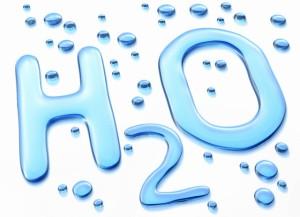 H2O Symbol in Water --- Image by © Matthias Kulka/Corbis